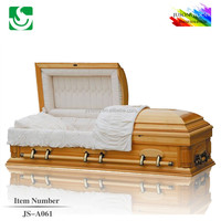 JS-A061 High quality American style solid wood china caskets prices