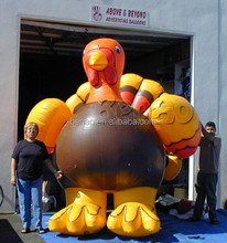 AC287 Hot sale advertising inflatable turkey,screen character cartoon /inflatable replicas cartoon,costume/inflatable