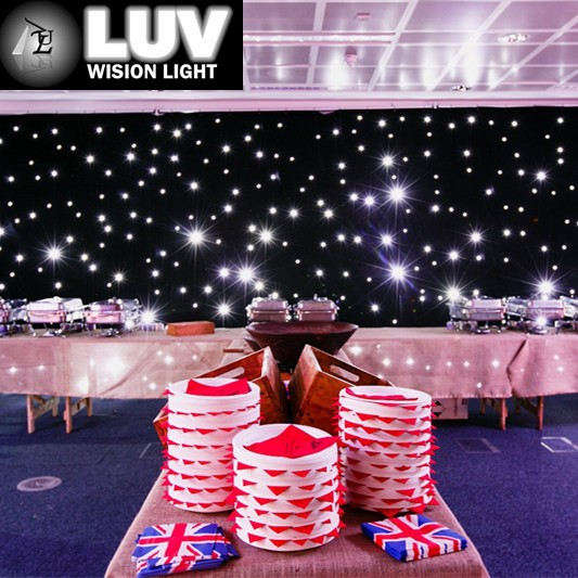 China high quality led star curtain cloth stage backdrops led wedding lights for wedding decoration