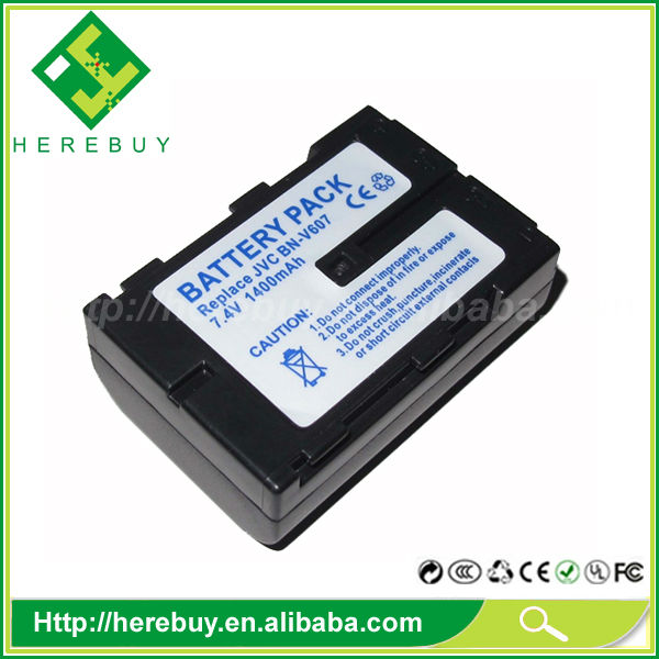 1400mAh 7.4V Digital Camera Li-ion Battery BN-V607 BN-V607U for JVC GV-HT1U GR-DVY GR-DVM9300 GR-DVM9700 GR-DVM9800
