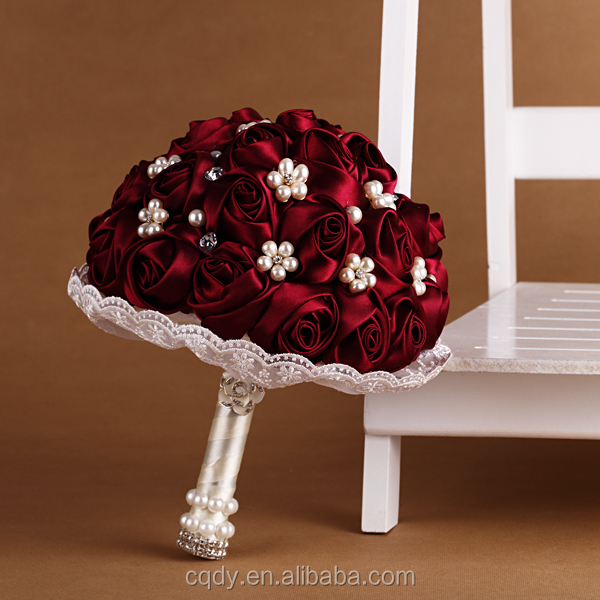 Wholesale fiery-hot red rose sexy artificial flowers bouquet for wedding decoration/Dried flower bouquet bride hands rose flower