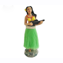 Polyresin Hawaii Ukulele Hula Girl Craft Souvenir Resin Statue Dashboard Gifts Figurine