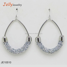 Jelly Jewelry round high quality crystal jewelry new designs gold jhumka earring
