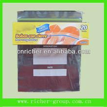 Clear Zip Lock Bag For Food With Paper Package