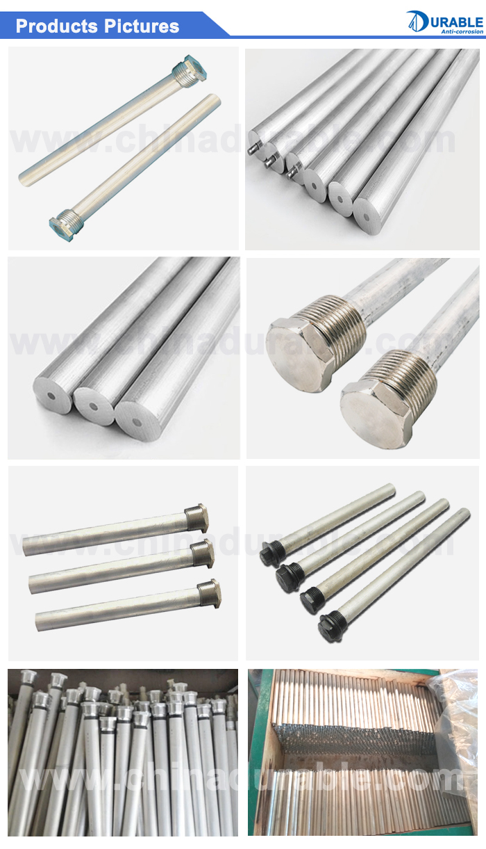 Corrosion control Extruded Water Tank Magnesium Anodes Rod for solar or electric water heaters