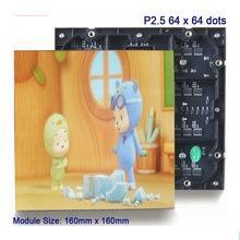 500x1000 led screen rental panel {P2.5 SMD 1R1G1B LED Display Module 160*160mm, 64*64 Pixels 1/16 Scan}