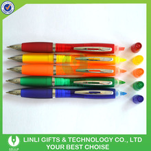 Customized Semitransparent Plastic Pen With Highlighter
