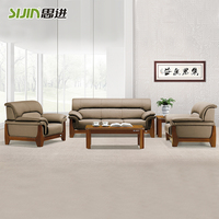 Italian classical office sofa of leather office sofas