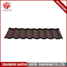 Wear resistant colorful sand stone coated metal roof tile for antique building