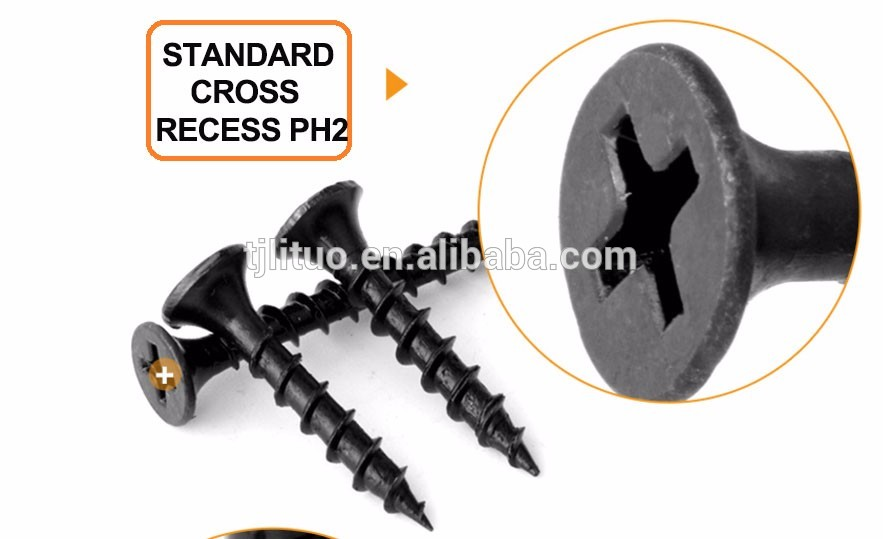 Tianjin China screw manufacturer black phosphate drywall screw bugle head drywall screw with good price