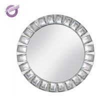 PZ21770 high quality crystal diamond wedding glass mirror charger plates wholesale
