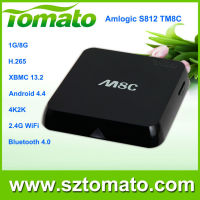 quad core amlogic S812 3d bluray full hd android tv box media player TM8C