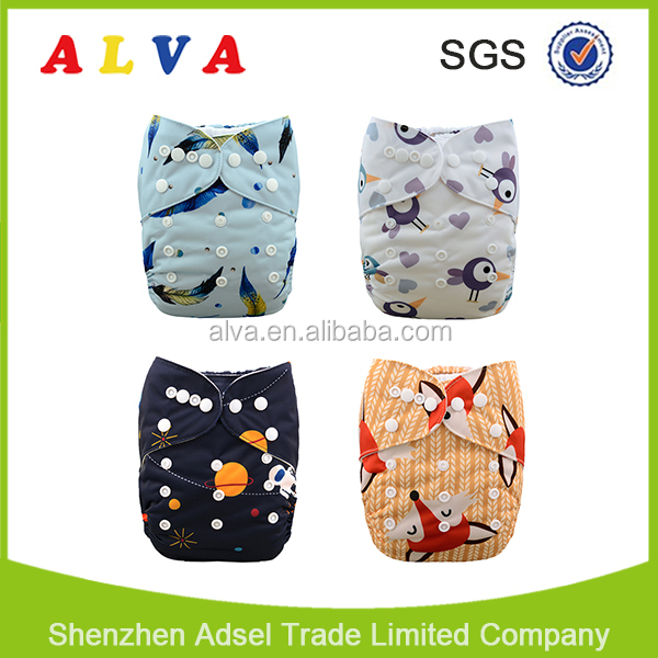 Modern ALVA Cloth Brand Reusable Baby Love Diapers Cloth Nappy