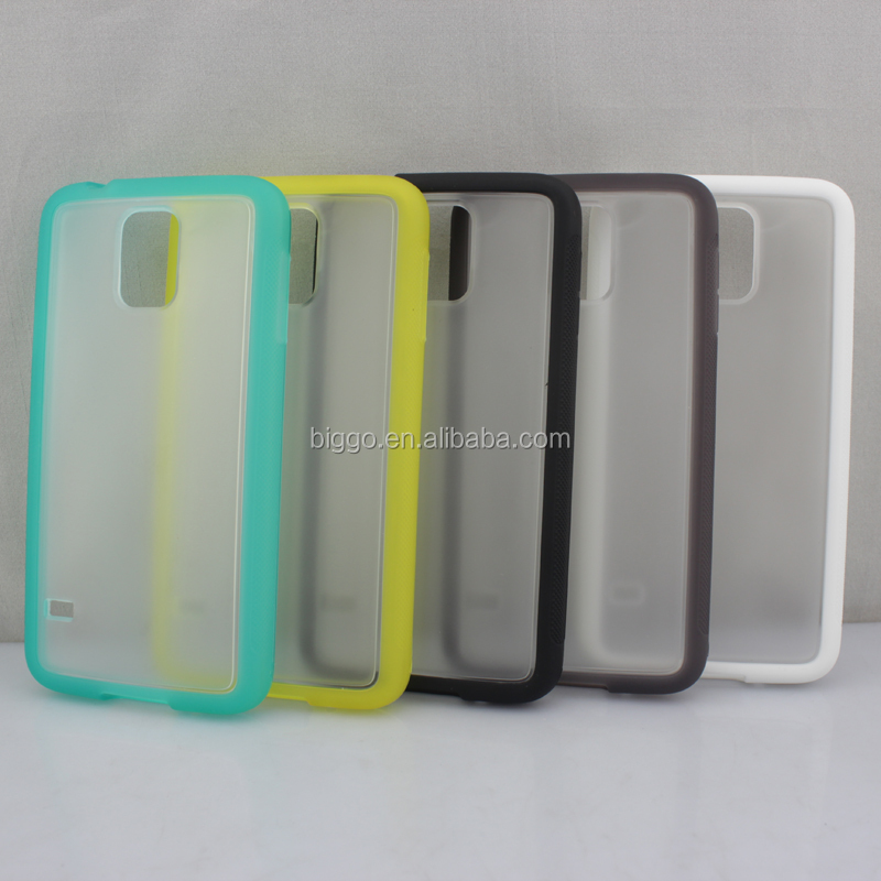 For Samsung Galaxy S5 Antislip Antiskid Matte Soft Tpu PC Back Case