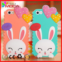 Custom different color cartoon cat high quality 3d silicone phone case for promotion