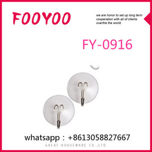 FOOYOO FY-0916 VACUUM SUCTION CUP HOOK DECORATIVE OVER THE DOOR HOOKS SMALL PLASTIC HOOK