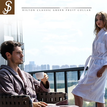 S&J High Quality Direct Sale 100%Cotton Couple Cheap Hotel Bathrobe Towel For Adult
