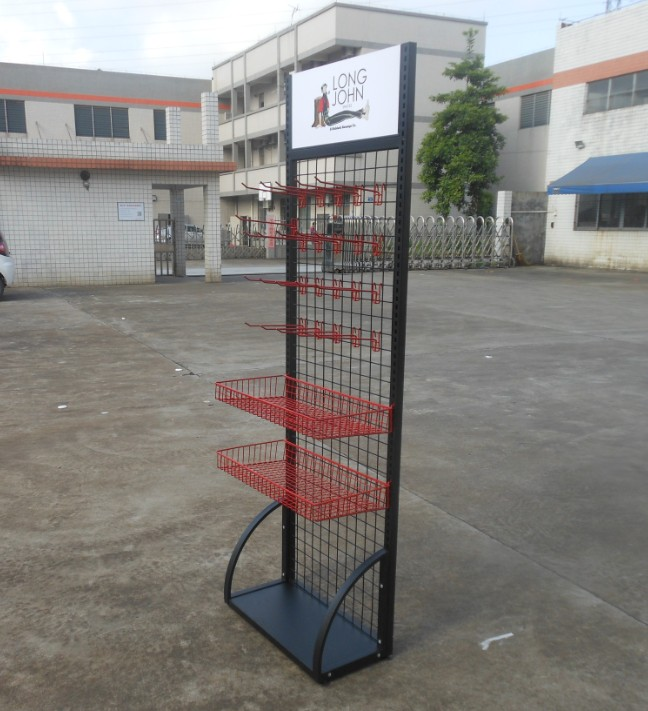 Hot sale cheap price stationery metal steel wire mesh grid panels wall hook display rack for hanging items