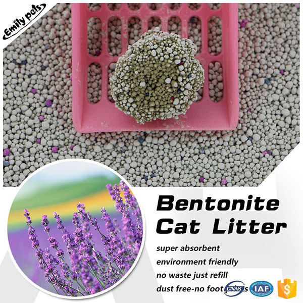 Pet products %350 absorption bentonite pet litter oem