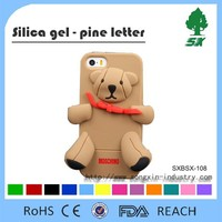 Custom cute animal shape silicone cheap mobile phone case for iphone 5/5s/6/6 plus