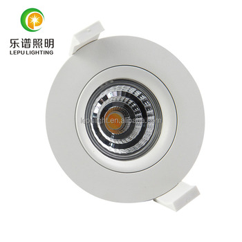 led in Norge gyro Ra99 83mm dim to warm 2000-2800k 9w IP44 led downlight