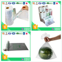 food grade clear perforated hdpe flat bag on roll
