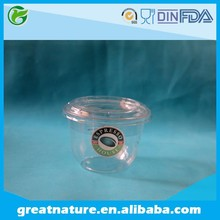 Disposable fruit salad packaging plastic cup