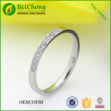 Wholesale High Quality Camo Silver Crystal Engagement Wedding Ring