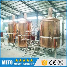 High quality 2/3 vessels of pub brewing equipment , red copper beer and wine making machine