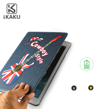 Customized universal western cowboy leather tablet case cover for the new ipad samsung tab a10.1 from china