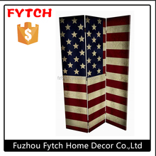 Call anytime rococo portable retractable room divider folding with the union flag design