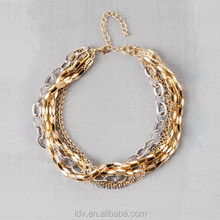 Bib Mix Metal Necklace Colares Bijuterias