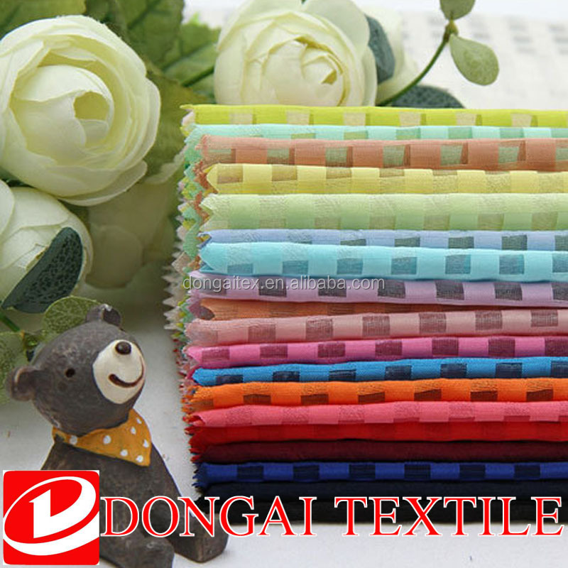 100%polyester grid jacquard organza fabric for dress/wedding/decorative fabric