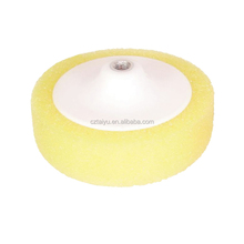 yellow buffer foam sponge pad with bonnet for cutting