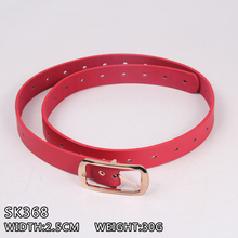 Hot selling manufacturer outlet trendy women's PU belts covered eyelets