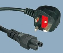 BS1363 to IEC C5 UK Mains Power Lead