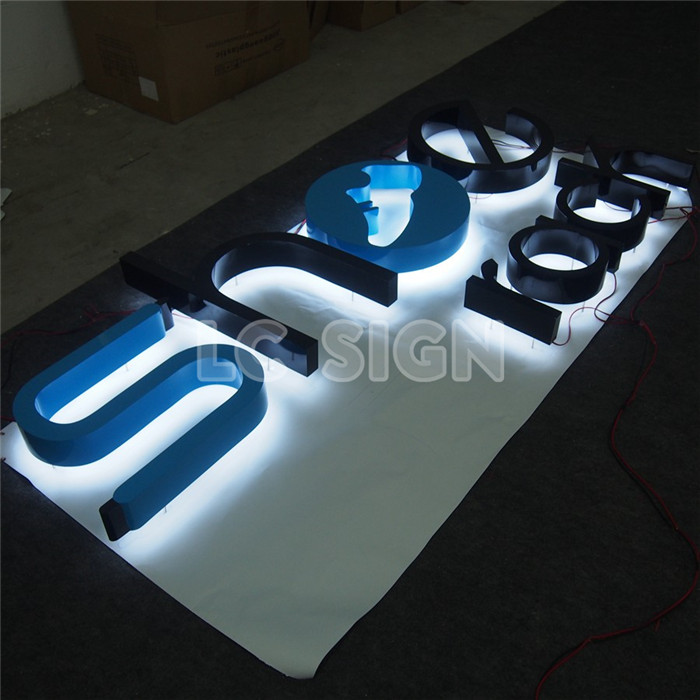 high quality shop brand led backlit outdoor signage backlit hola letters manufactured in China