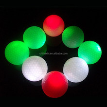 Manufacturer wholesale cheap golf ball led flashing golf balls