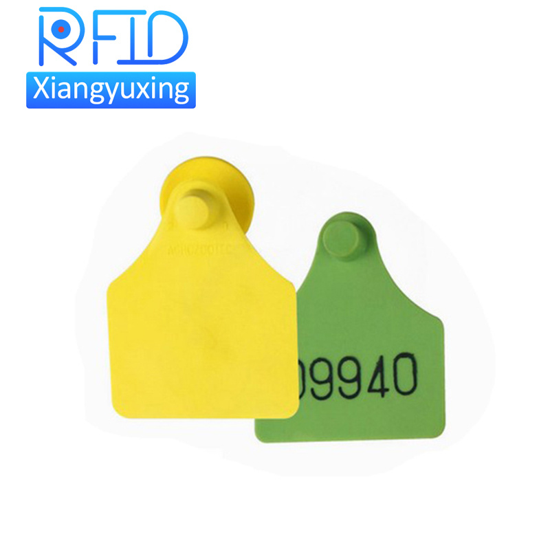 Animal management TPU ear tags bar code for feeding