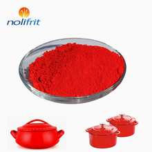 High temperature resistant inorganic pigment red porcelain for enamel products