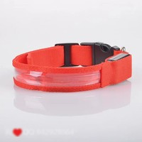 2014 fashion wholesale Christmas gift USB led lighted dog collar for puppy