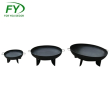 Factory custom size outdoor iron cast large bowl fire pit