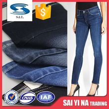 Latest twill custom stretch cotton cheap women jeans denim fabric