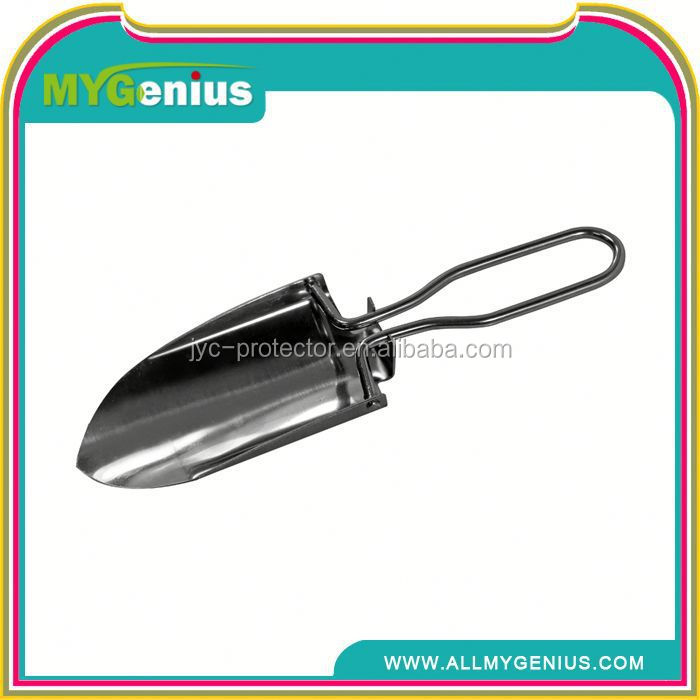tri folding military shovel ,H0T022 foldable beach camping garden stainless steel shovel suivival tool