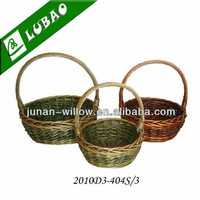 Cheap Willow Wicker Fancy Holiday Gift Baskets Empty