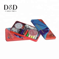 mini dolls wholesale travel hotel tools professional small metal tin box portable travel diy kids sewing kit for sale