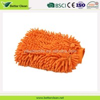 Size customized for car wipe washable chenille cleaning glove