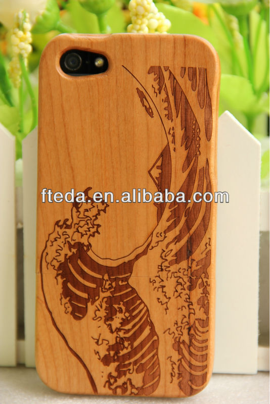 Top quality Real Genuine Bamboo Natural Wood Wooden Case Cover Skin for Apple iPhone 4S 4 4G