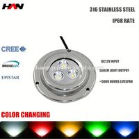 12v ip68 rgb 9w High power stainless steel waterproof ip68 led submersible fountain lights