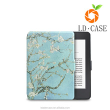 Colorful painting leather cover case for kindle paperwhite